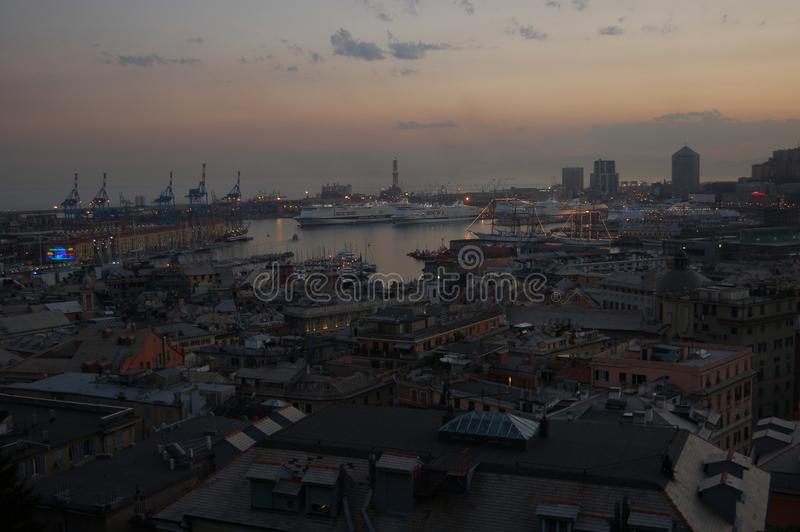 Panorama de Genoa fotografia de stock