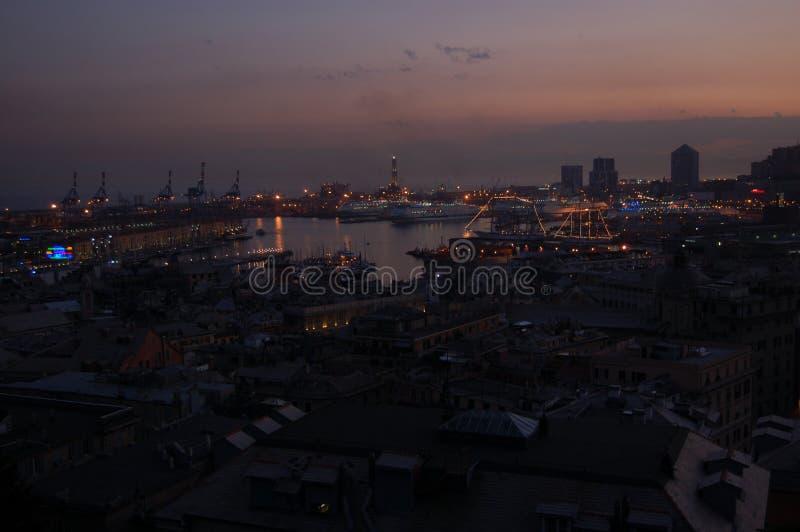 Panorama de Genoa foto de stock
