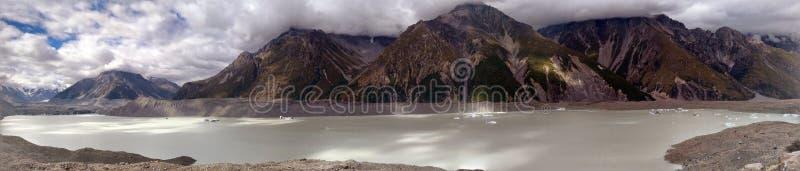 Panorama de glacier d'Aoraki image libre de droits