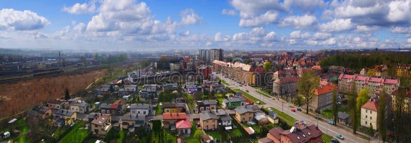 Panorama de Gliwice, Polonia foto de archivo libre de regalías