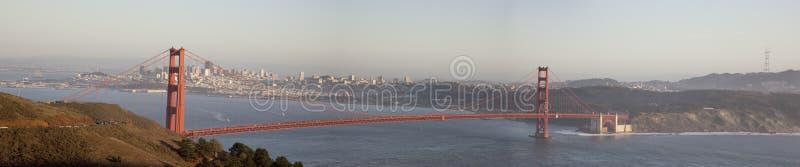 Panorama de golden gate bridge image stock
