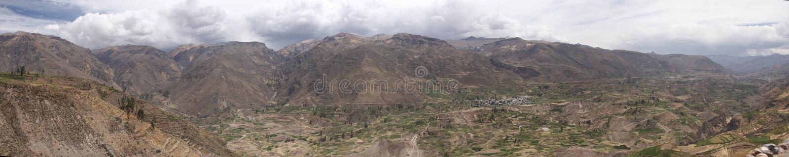 panorama de gorge et de vallée de colca photo libre de droits