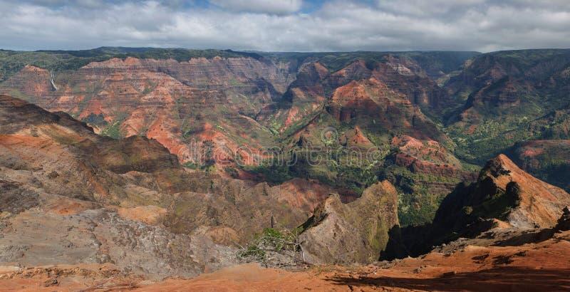Panorama de gorge de Waimea, Kauai image libre de droits