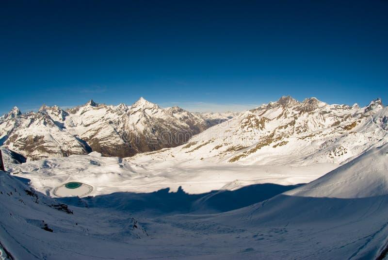 Panorama de Gornergrat fotografia de stock royalty free
