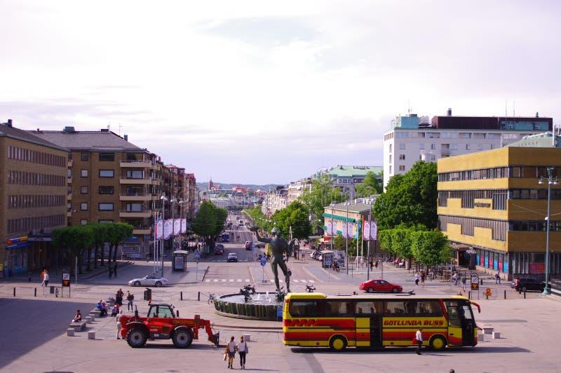 Panorama de Gothenburg na luz do dia foto de stock