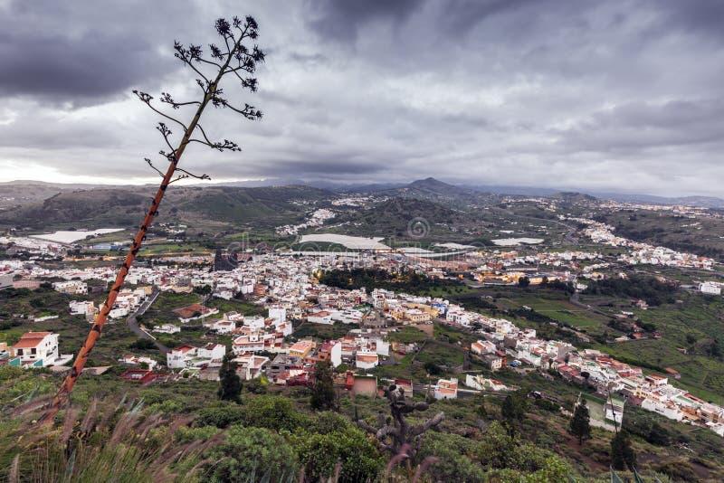 Panorama de Gran Canaria no nascer do sol fotografia de stock