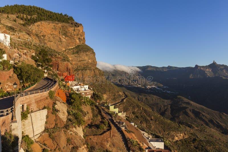 Panorama de Gran Canaria visto de Artenara imagen de archivo libre de regalías