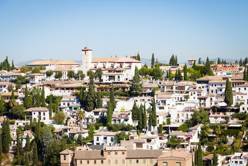 Panorama de Granada imagens de stock