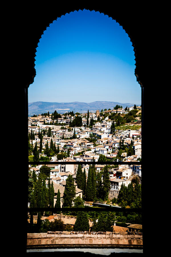 Panorama de Granada imagem de stock royalty free