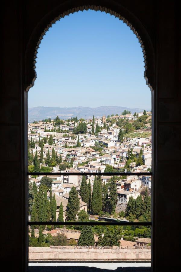 Panorama de Granada imagens de stock royalty free