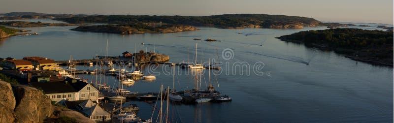 Panorama de Grebbestad imagem de stock royalty free