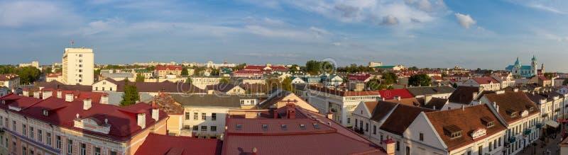 Panorama de Grodno con una visión imagenes de archivo