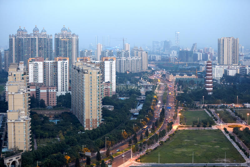 Panorama de Guangzhou photographie stock libre de droits