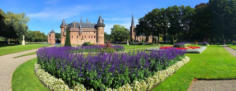 Panorama of de Haar Castle. Utrecht, the Netherlands. stock images