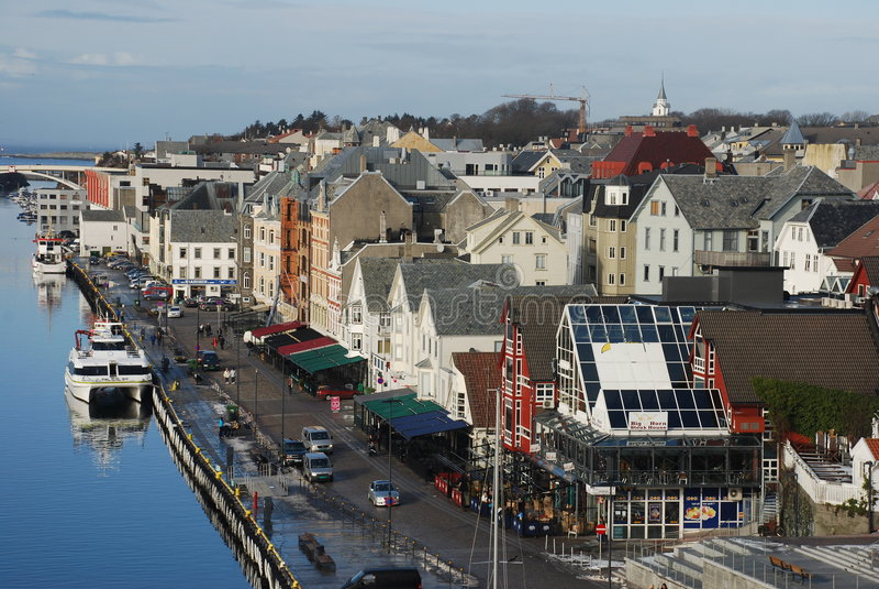 Panorama de Haugesund foto de archivo libre de regalías