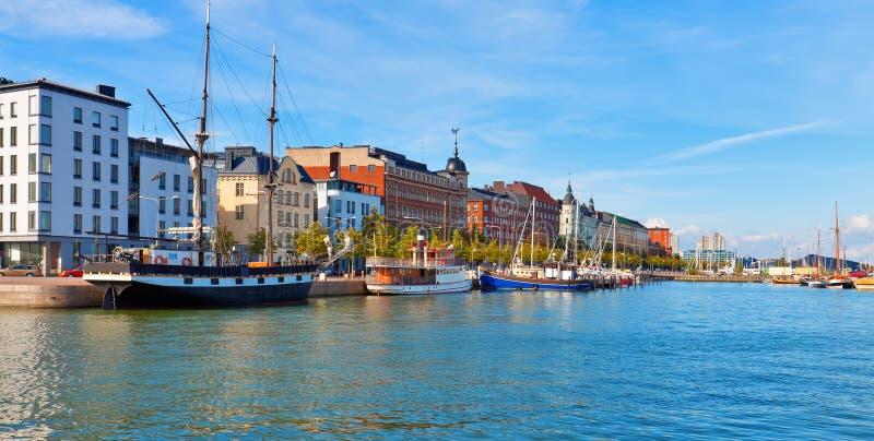 Panorama de Helsínquia, Finlandia fotos de stock royalty free