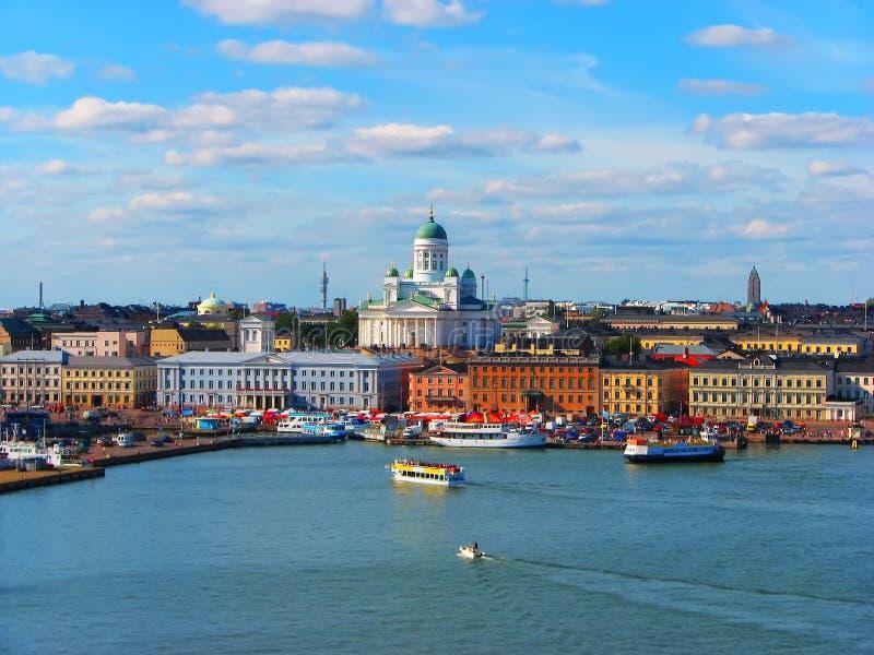 Panorama de Helsínquia, Finlandia fotografia de stock
