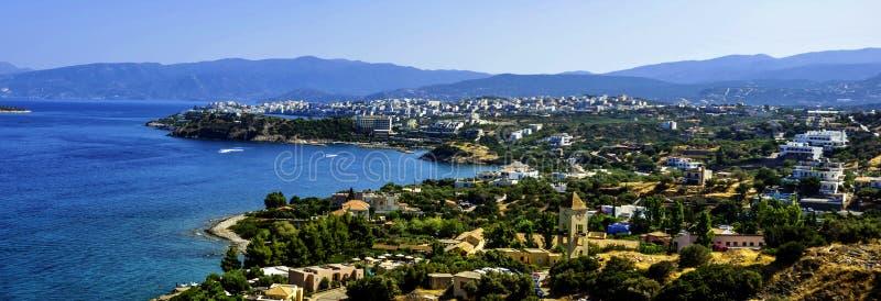 Panorama de Heraklion - Chania, Creta, Grecia imágenes de archivo libres de regalías