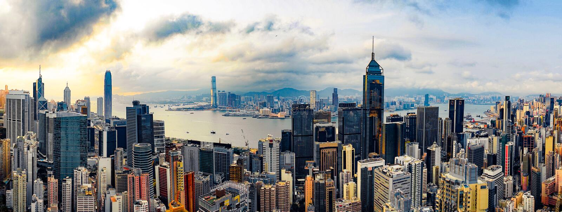 Panorama de Hong Kong fotografia de stock