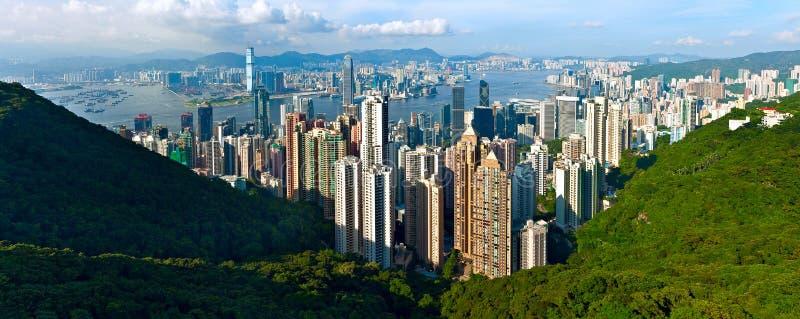 Panorama de Hong Kong photos stock