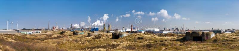 Panorama de Ijmuiden imagem de stock
