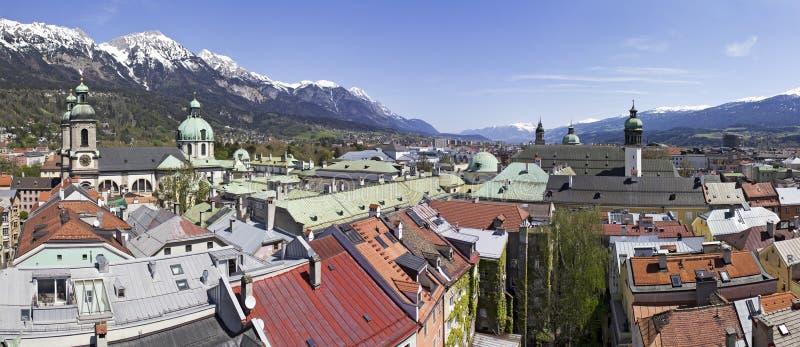 Panorama de Innsbruck foto de archivo libre de regalías