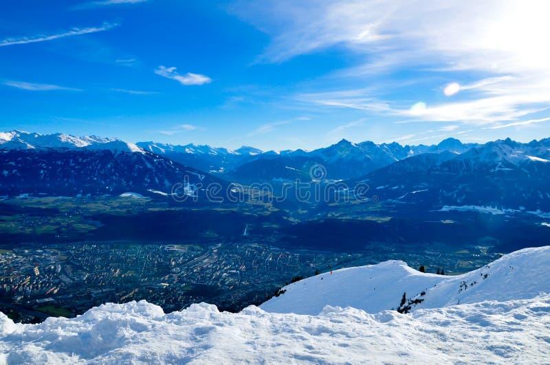 Panorama de Innsbruck fotografía de archivo