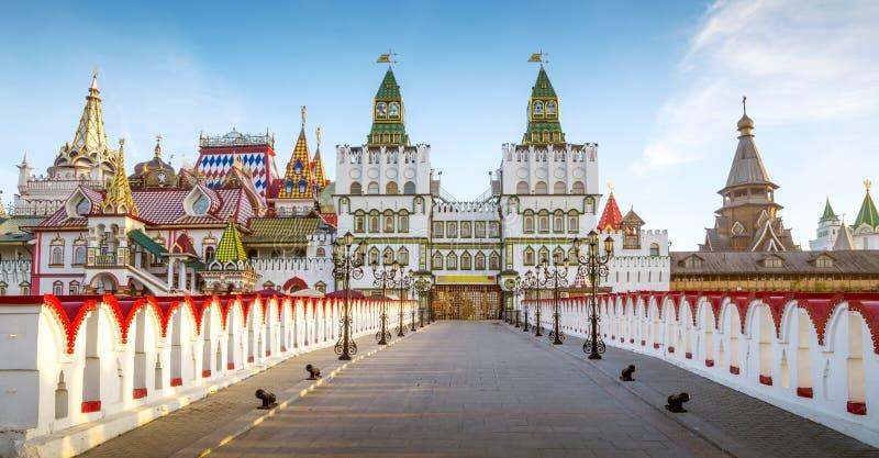 Panorama de Izmailovsky el Kremlin en Moscú, Rusia fotos de archivo libres de regalías