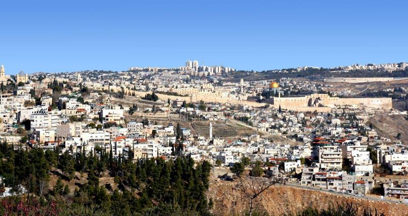 Panorama de Jérusalem images stock