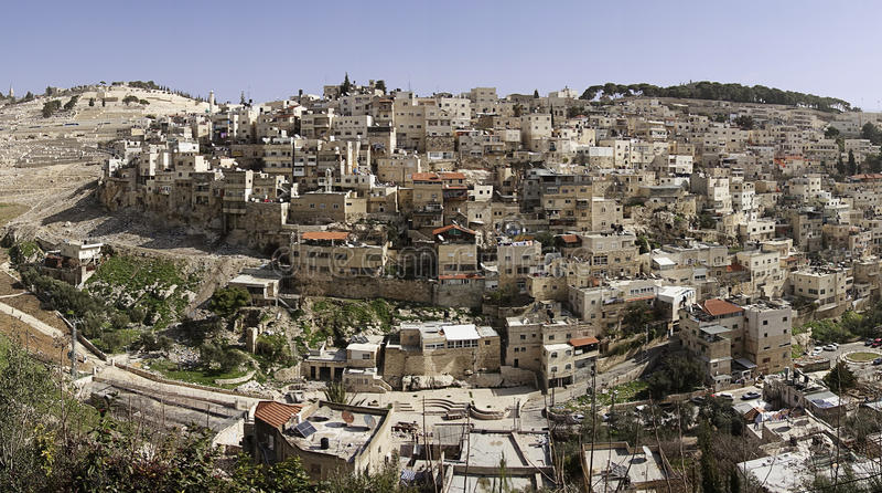 Panorama de Jérusalem est photographie stock