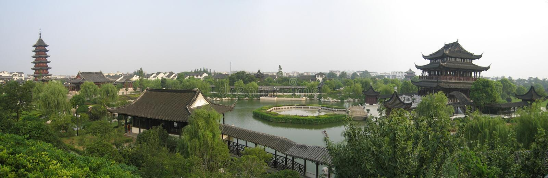Panorama de jardin de suzhou images stock