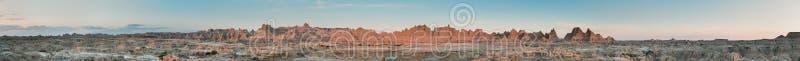 Panorama de journal de trappe en stationnement national de bad-lands photo libre de droits