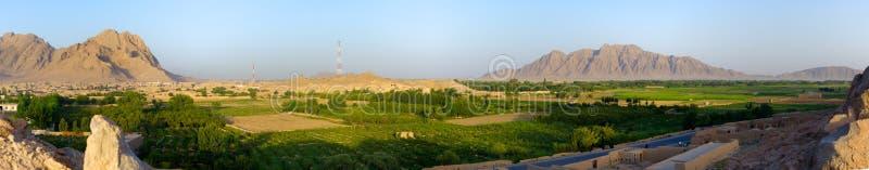 Panorama de Kandahar, Afeganistão imagem de stock