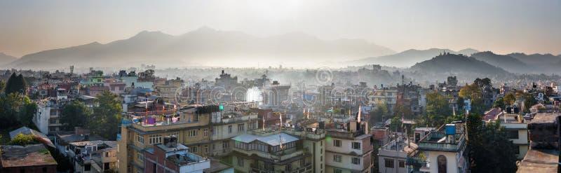 Panorama de Katmandou, Népal images libres de droits