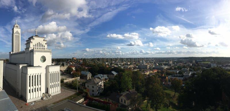 Panorama de Kauno Kristaus Prisikelimo imagen de archivo libre de regalías