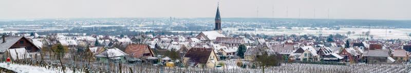 Panorama de Kintzheim, uma vila em Bas-Rhin - Alsácia, França fotos de stock