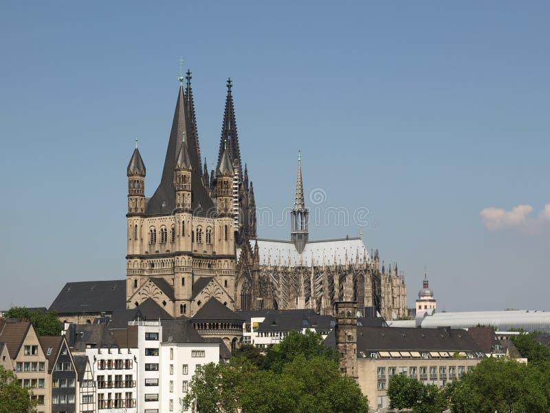 Panorama de Koeln foto de archivo