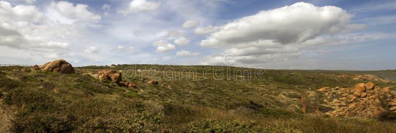 Panorama   de l'Australie occidentale de Yallingup de dunes nues photographie stock libre de droits