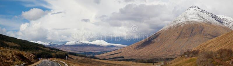 Panorama de l'Ecosse de montagnes photos libres de droits