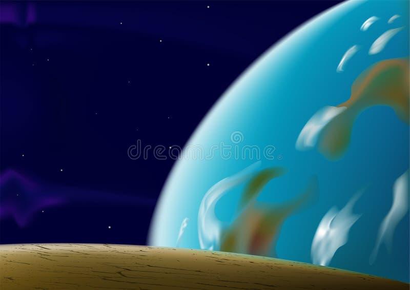 Panorama de l'espace illustration de vecteur