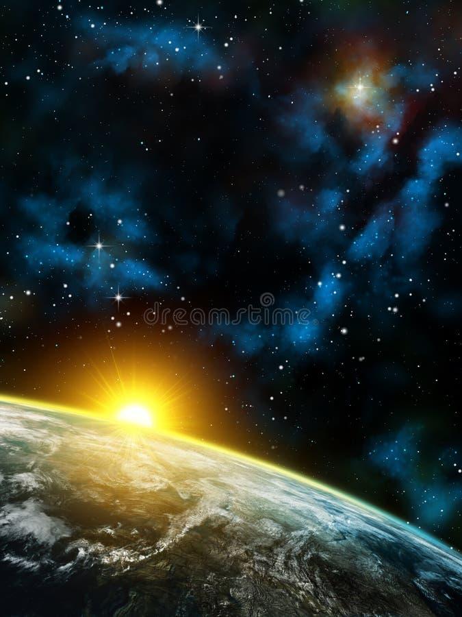 Panorama de l'espace illustration libre de droits
