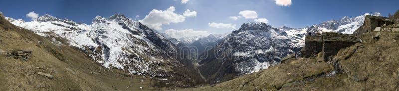 Panorama de la aldea de Faller fotografía de archivo
