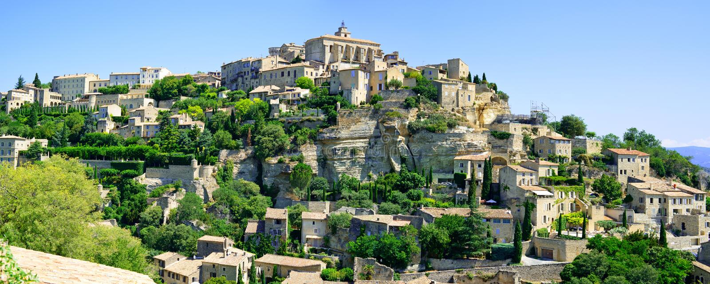 Panorama de la aldea de Gordes. Luberon, Provence imágenes de archivo libres de regalías