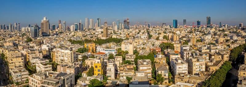 Panorama de la antena de Tel Aviv fotografía de archivo libre de regalías