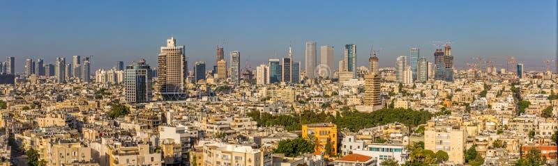 Panorama de la antena de Tel Aviv imágenes de archivo libres de regalías