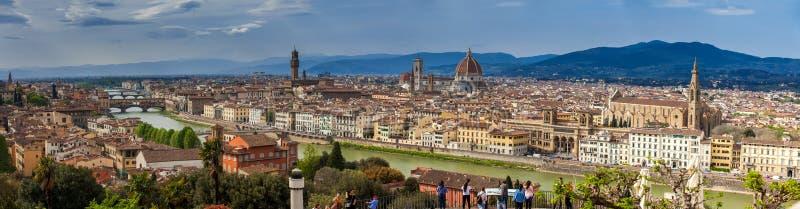 Panorama de la belle ville de Florence de Michelangelo Square image libre de droits