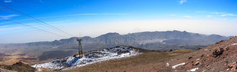 Panorama de la caldera del EL Teide del volcán en la isla de Tenerife, España foto de archivo