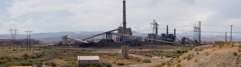 Panorama de la central eléctrica foto de archivo libre de regalías