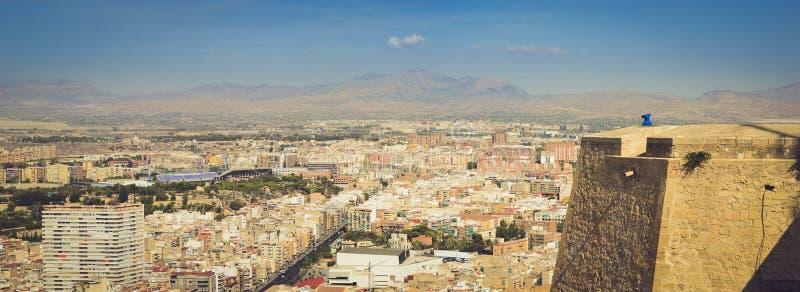 Panorama de la ciudad de Alicante foto de archivo libre de regalías