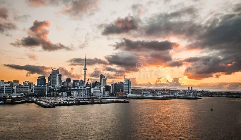 Panorama de la ciudad de Auckland, Nueva Zelandia fotos de archivo libres de regalías